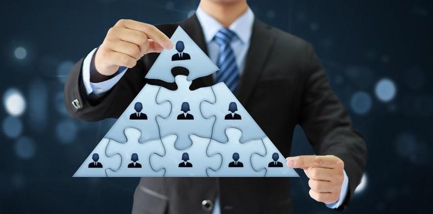 金字塔型核心客户